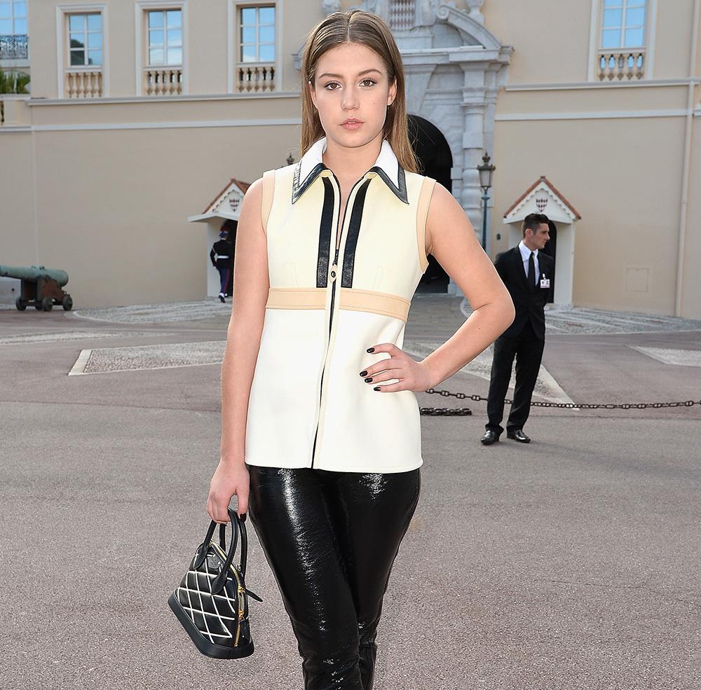 Adele Exarchopoulos Louis Vuitton Alma Malletage Bag