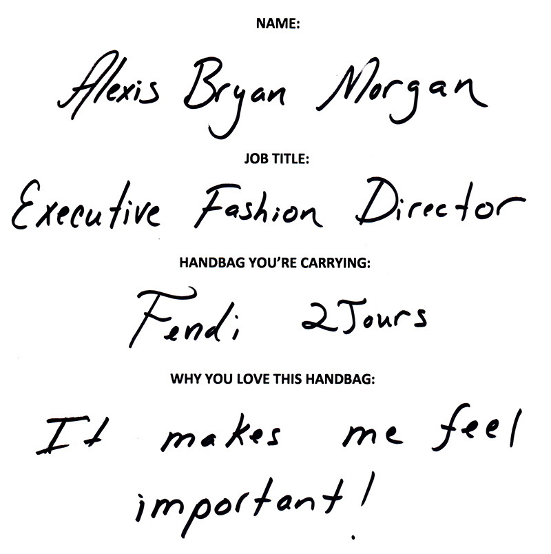 Alexis Bryan morgan Fendi Answers