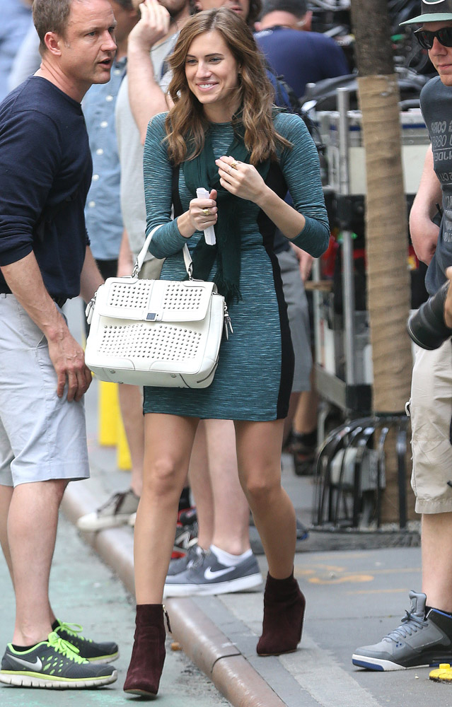 Allison Williams Rebecca Minkoff Elle Studded Satchel-1