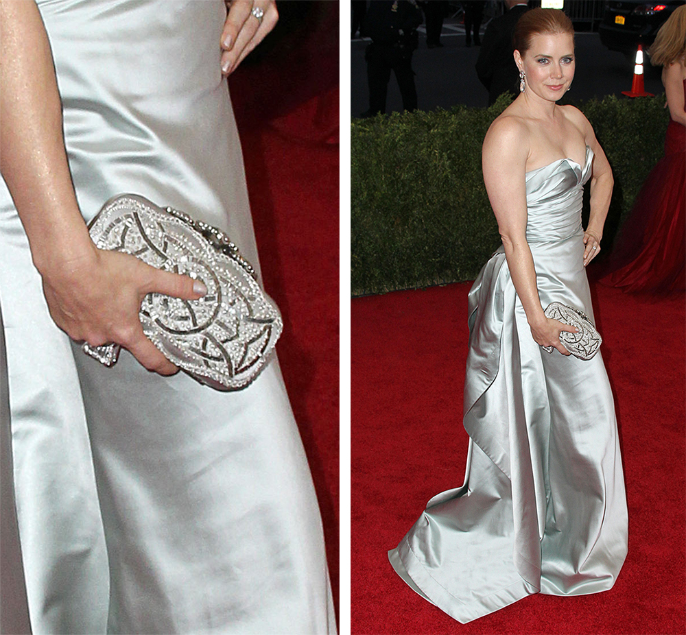 Amy Adams Oscare de la Renta Crown Goa Clutch