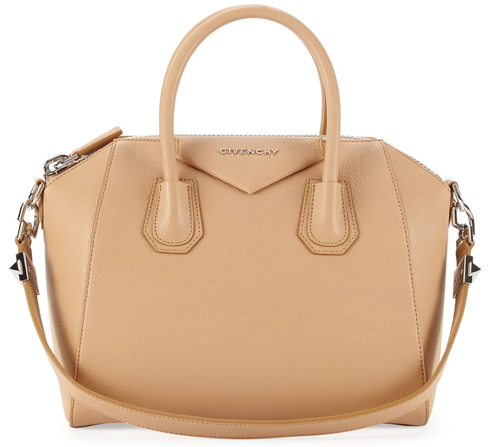 Antigona Small Sugar Satchel Bag Light Beige