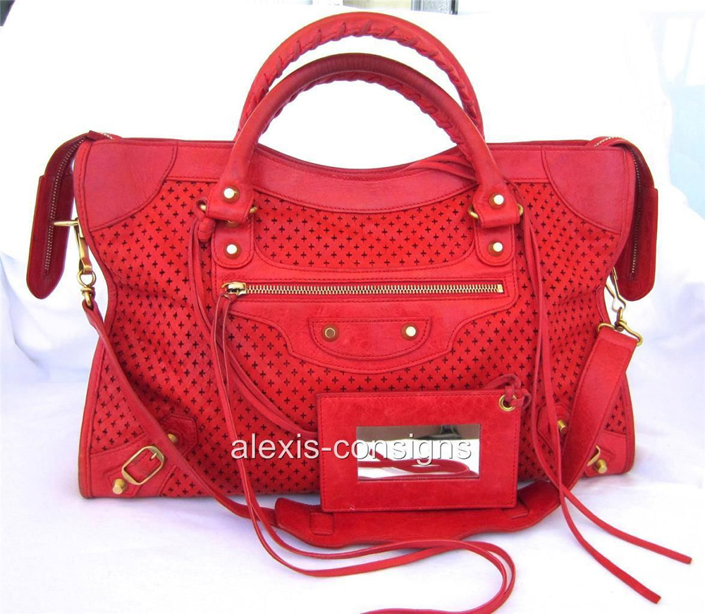 Balenciaga Perforated City Bag