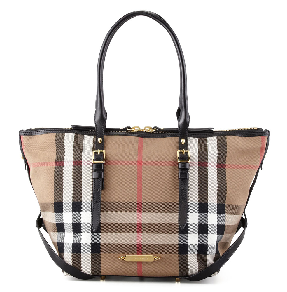 Burberry Bridle House Check Tote Bag