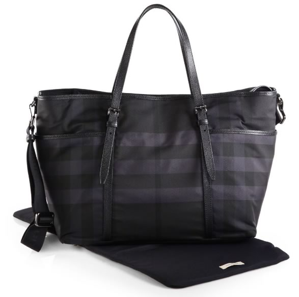 Burberry Grace Nylon Check Diaper Bag