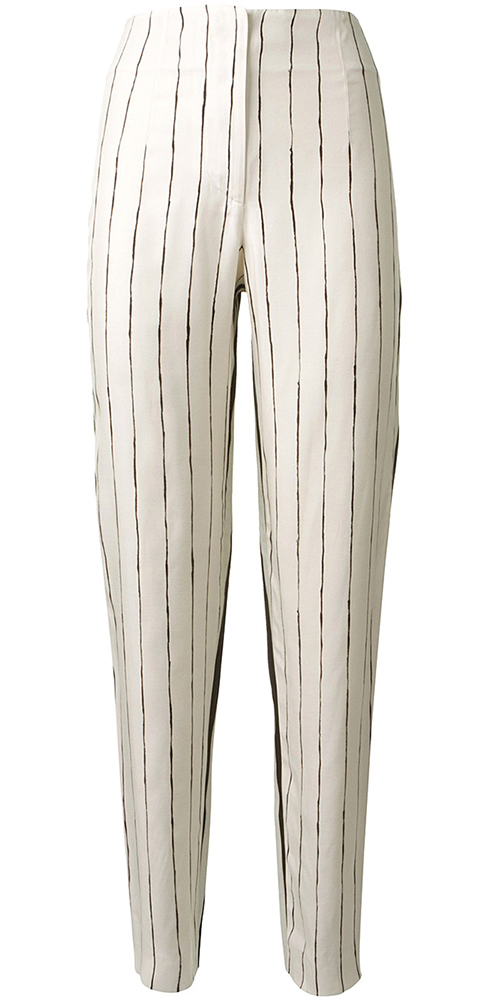 Cedric Charlier Striped Trousers