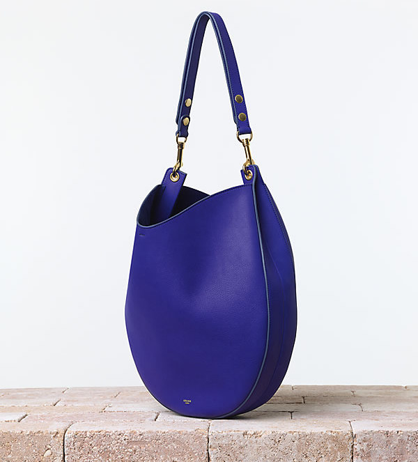 Celine Hobo in Supple Calfskin Indigo
