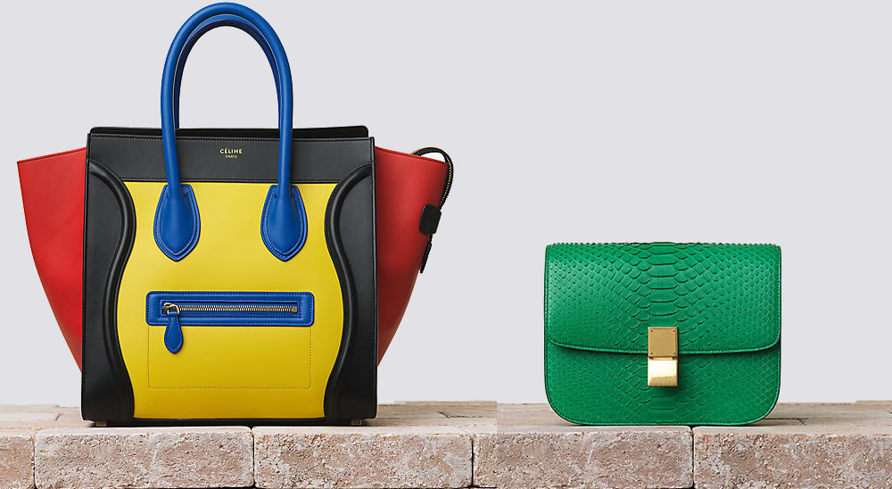 2d658fe778 The 9 Most Colorful Bags of Celine Summer 2014 - PurseBlog