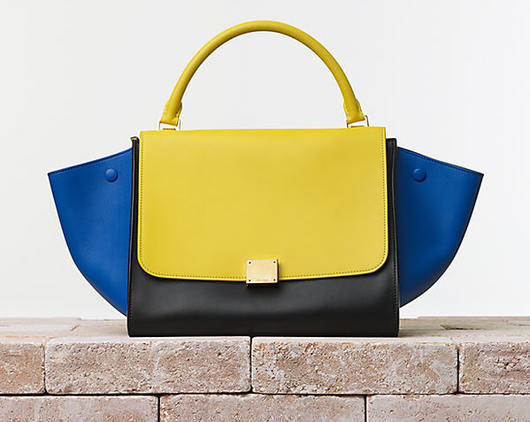 Celine Trapeze Handbag in Smooth Calfskin Sunflower