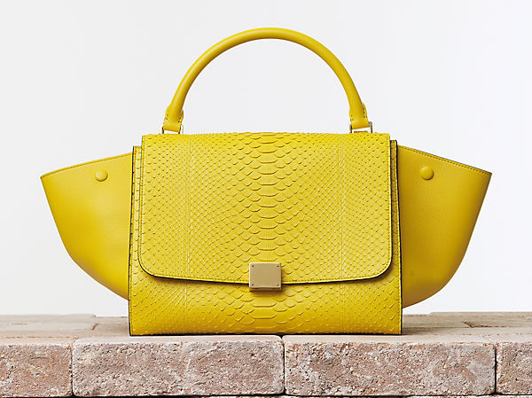 Celine Trapeze in Python and Calfskin Mimosa