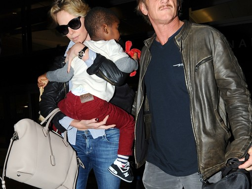 Charlize Theron Louis Vuitton Soft Lockit Bag