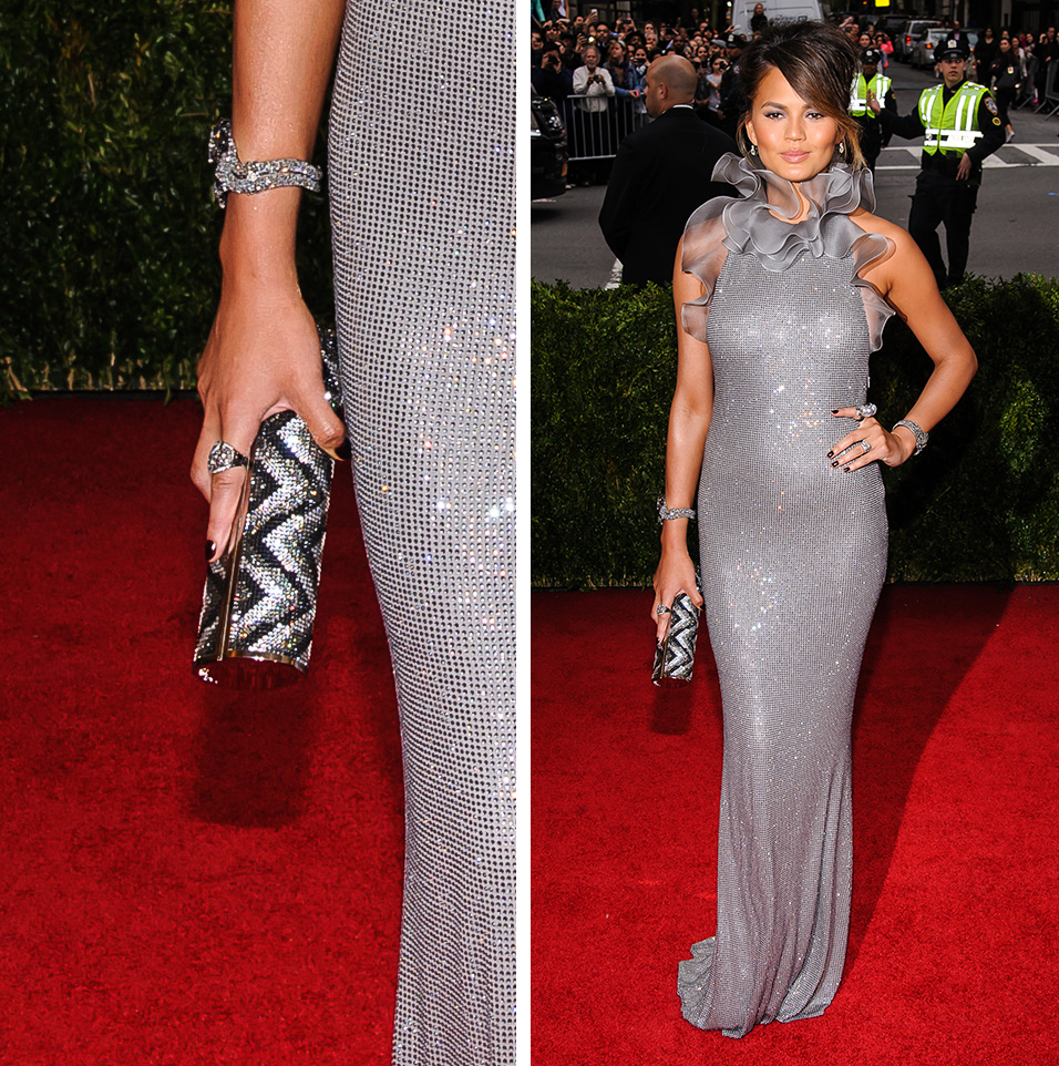 Chrissy Teigen Jimmy Choo Cosma Clutch