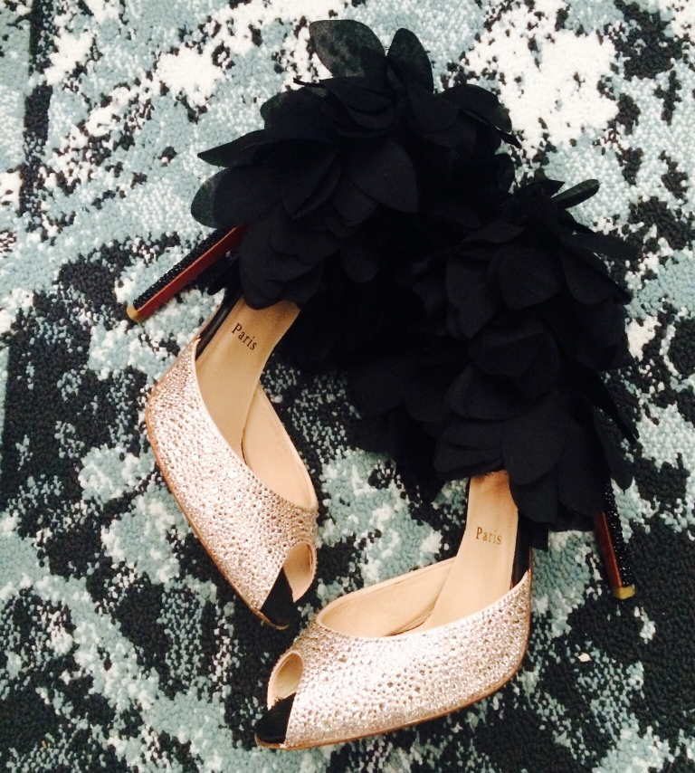 Christian Louboutin Feather Strass Sandals
