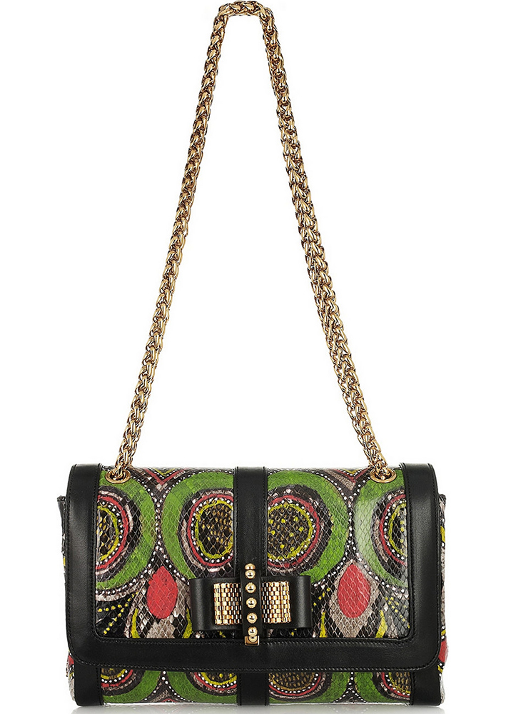 Christian Louboutin Sweet Charity Snakeskin Shoulder Bag