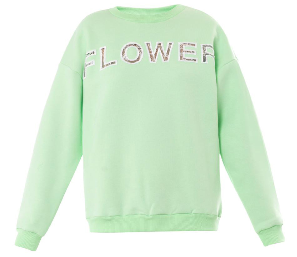 Christopher Kane Flower Lace Insert Sweatshirt