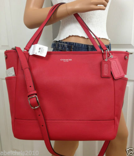 Coach Saffiano Diaper Bag