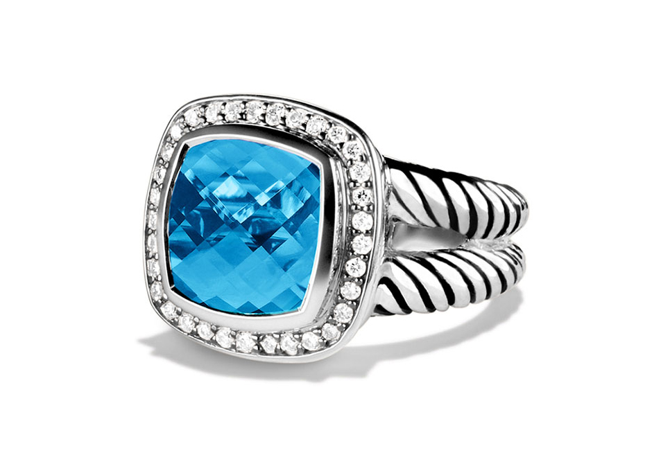 David Yurman Albion Blue Topaz Ring