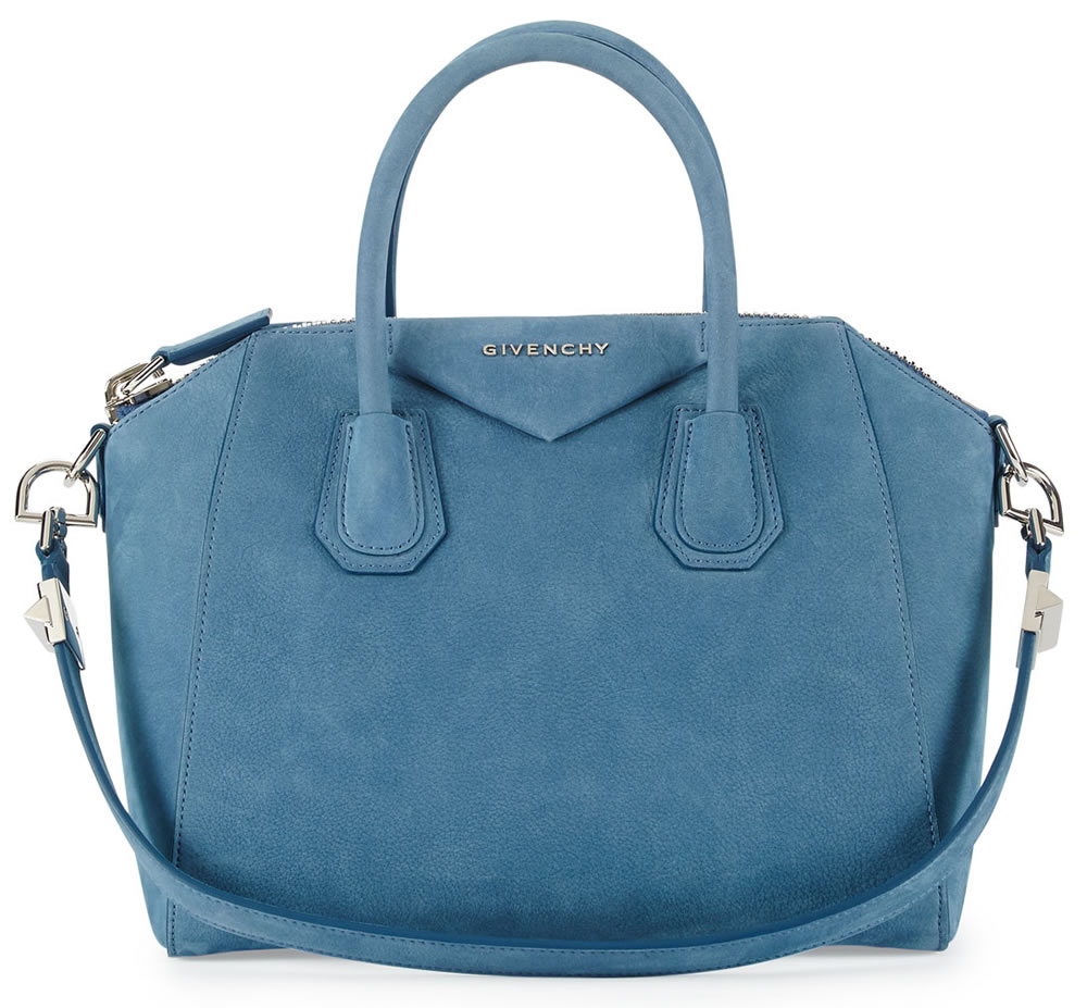 Givenchy Antigona Small Nubuck Satchel Bag Blue