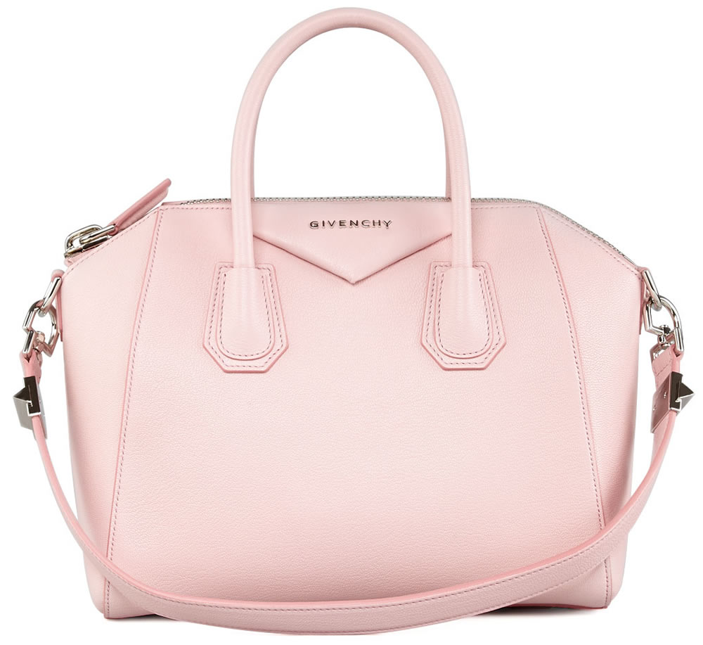 Givenchy Antigona Small Sugar Goatskin Satchel Bag Light Pink