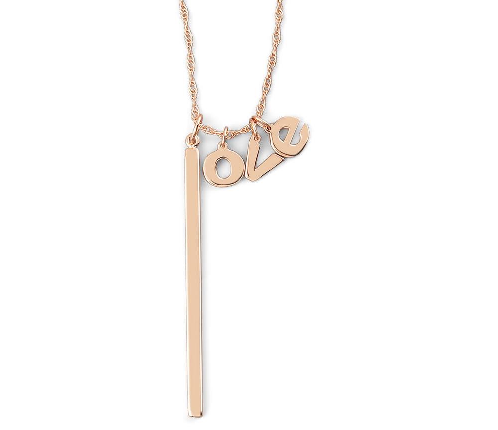 Jennifer Zeuner Hanging Love Charm Necklace