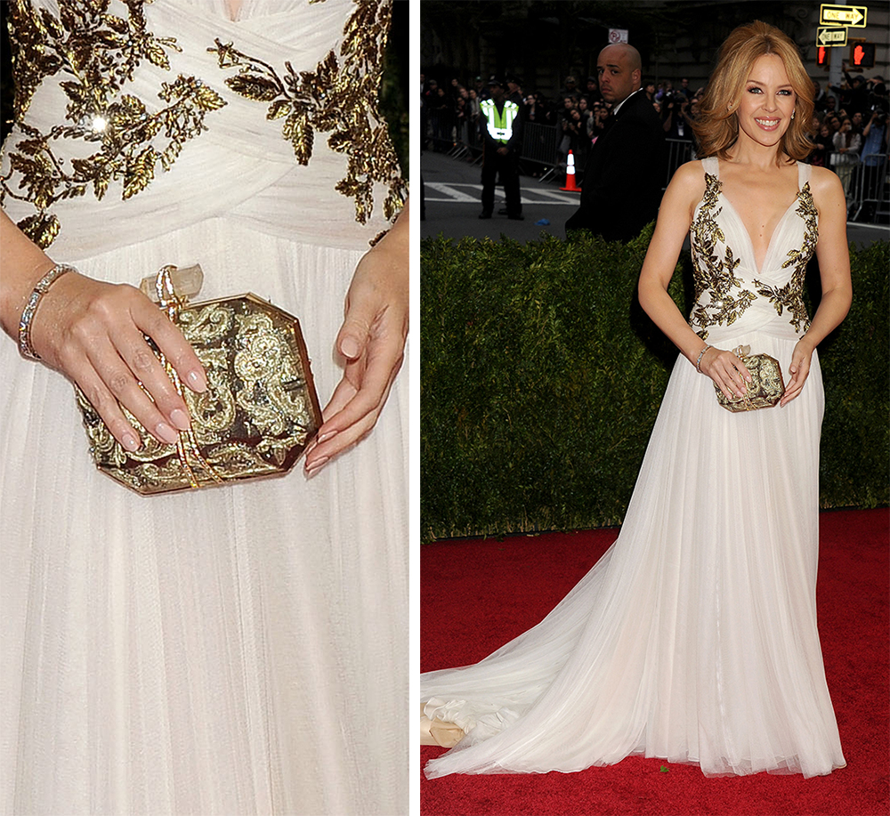 Kylie Minogue Marchesa Iris Clutch