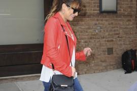 Lea Michele Carries an Alexander Wang Bag in NYC