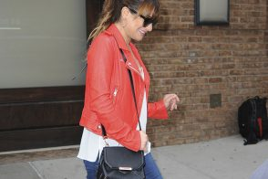 Lea Michele Carries an Alexander Wang Bag in NYC