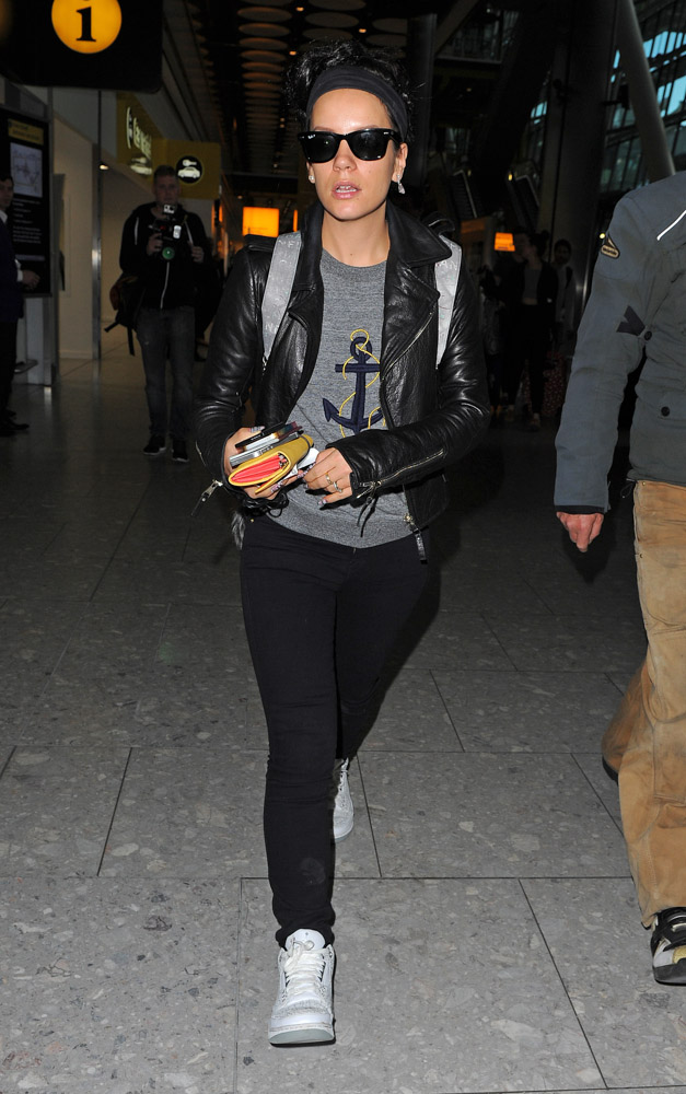Lily Allen Chanel Graffiti Backpack-3