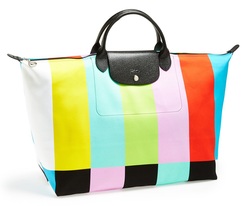 Longchamp x Jeremy Scott Color Bar Travel Bag