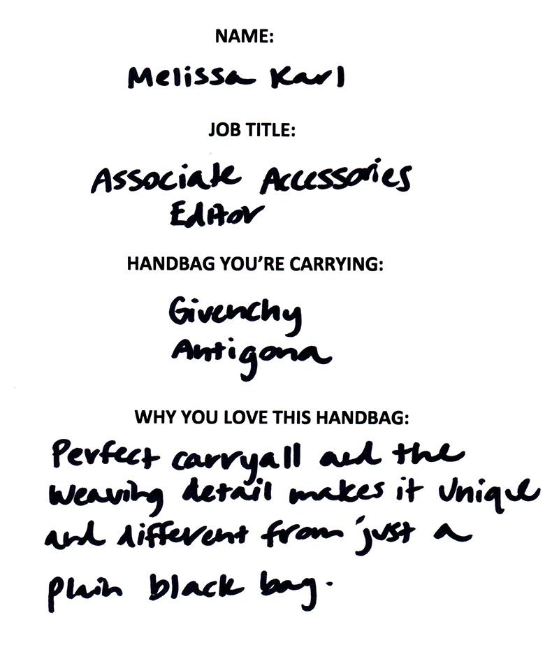 Melissa Karl Givenchy Antigona Answers