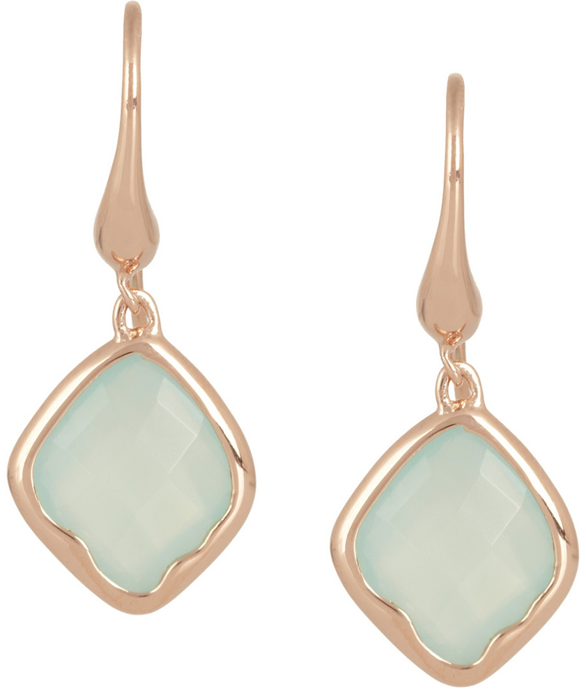 Monica Vinader Riva Rose Gold Chalcedony Earrings