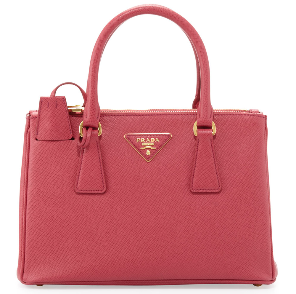 Prada Saffiano Double-Zip Crossbody Mini Bag