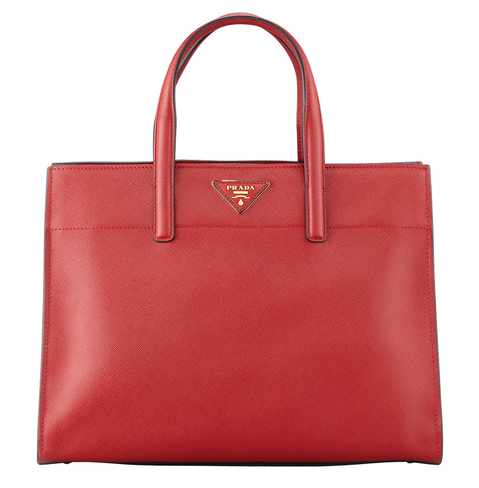 Prada Saffiano Triple Pocket Tote