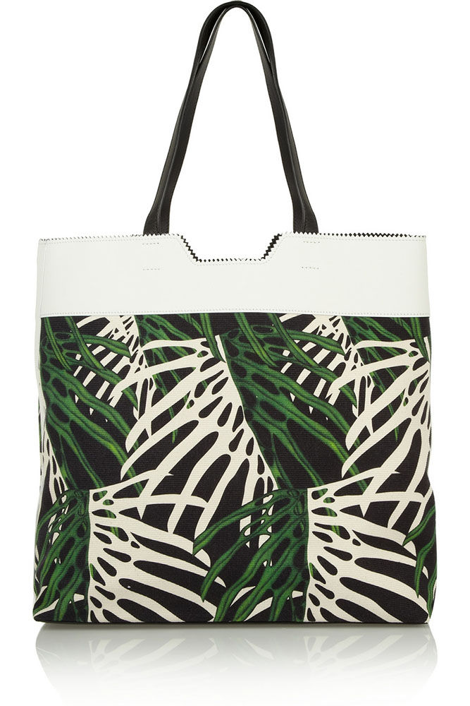 Proenza Schouler Paper Bag Printed Canvas Tote