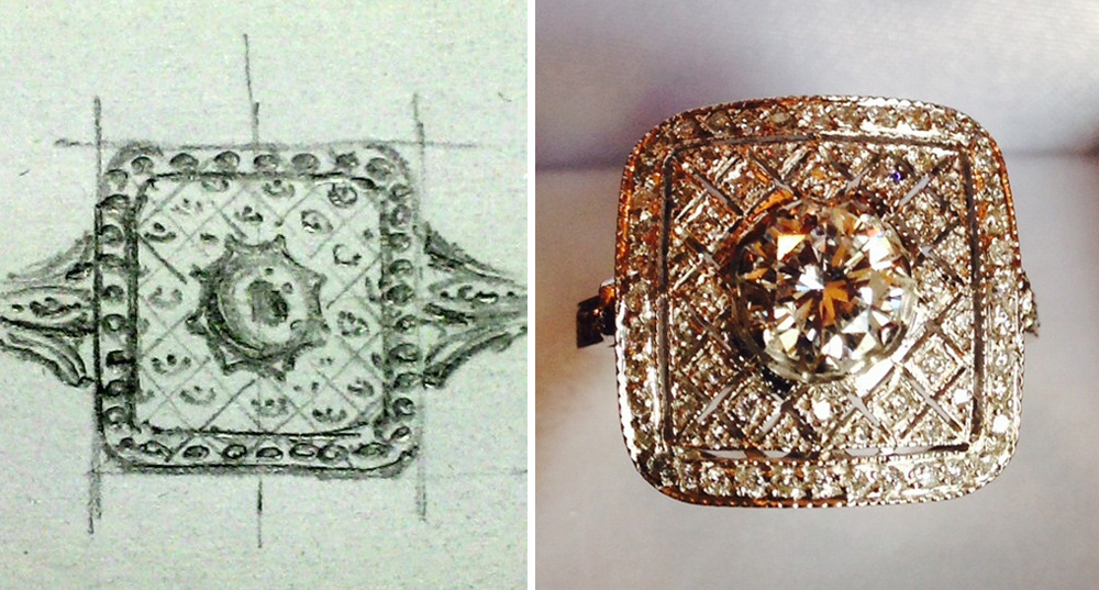 Ring Sketch and Final Product