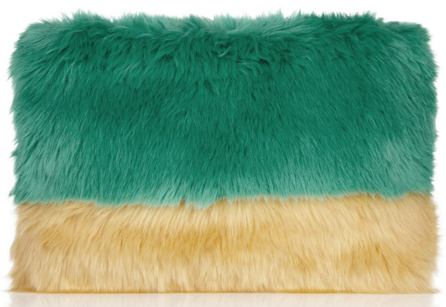 Shrimps Faux Fur Clutch
