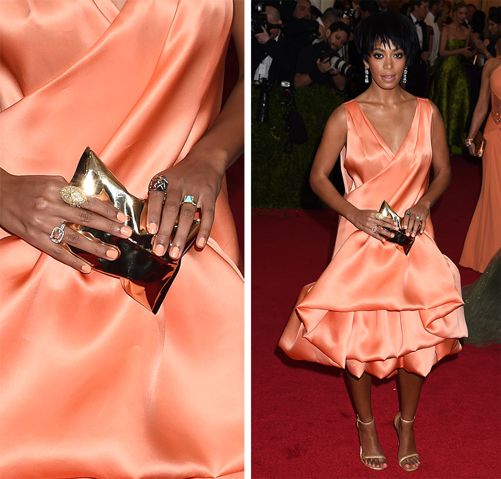 Solange Knowles Anya Hindmarch Crisp Packet Clutch