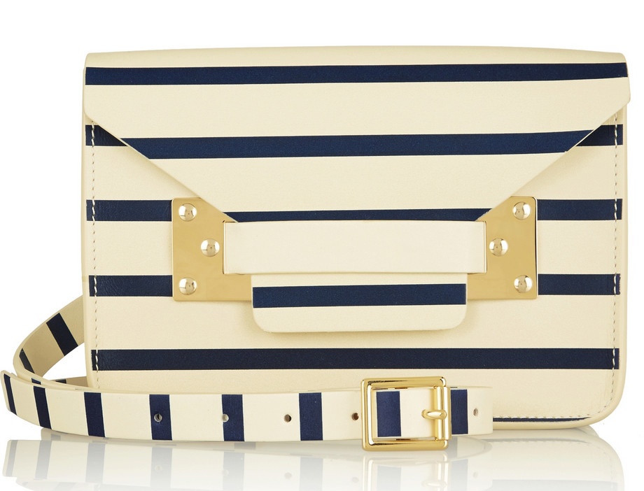Sophie Hulme Striped Envelope Bag