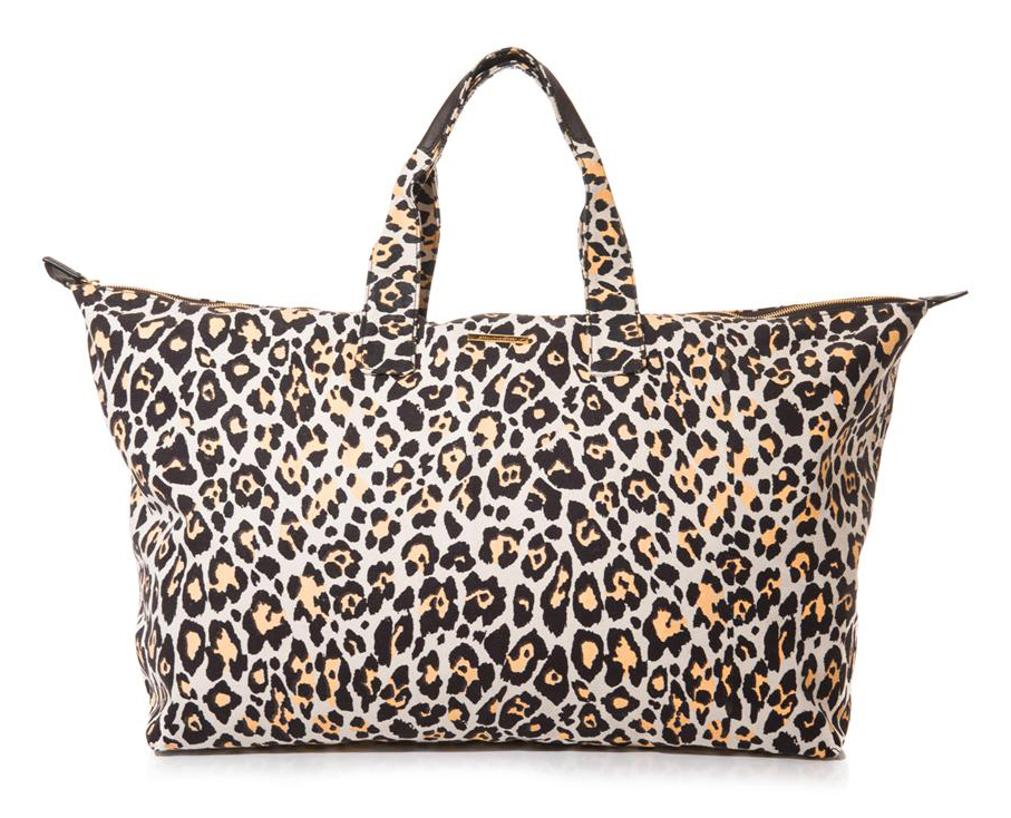 Stella McCartney Leopard Canvas Travel Bag
