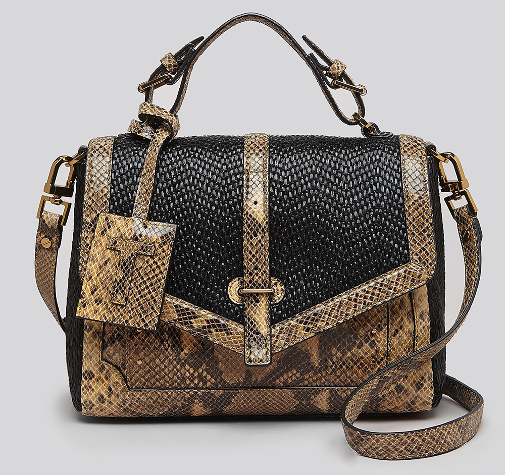 Tory Burch 797 Snake Embossed Satchel