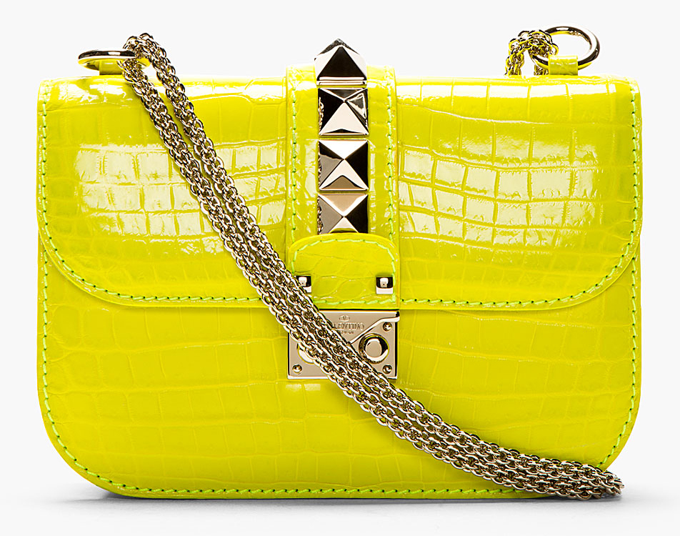 Valentino Crocodile VaVaVoom Shoulder Bag