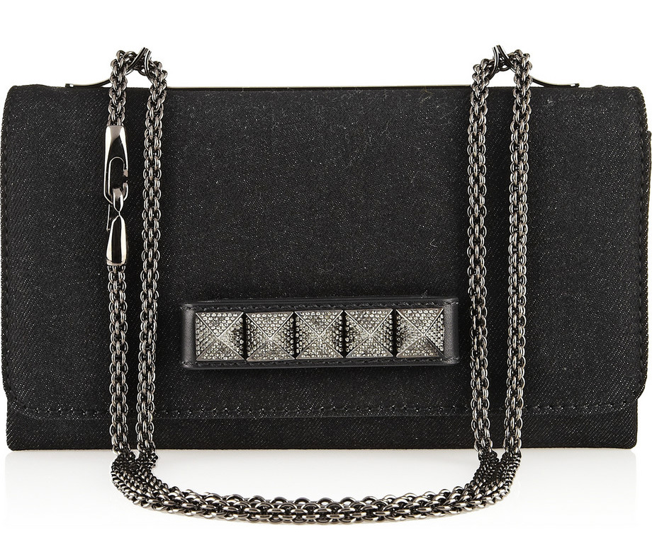 Valentino Denim VaVaVoom Shoulder Bag