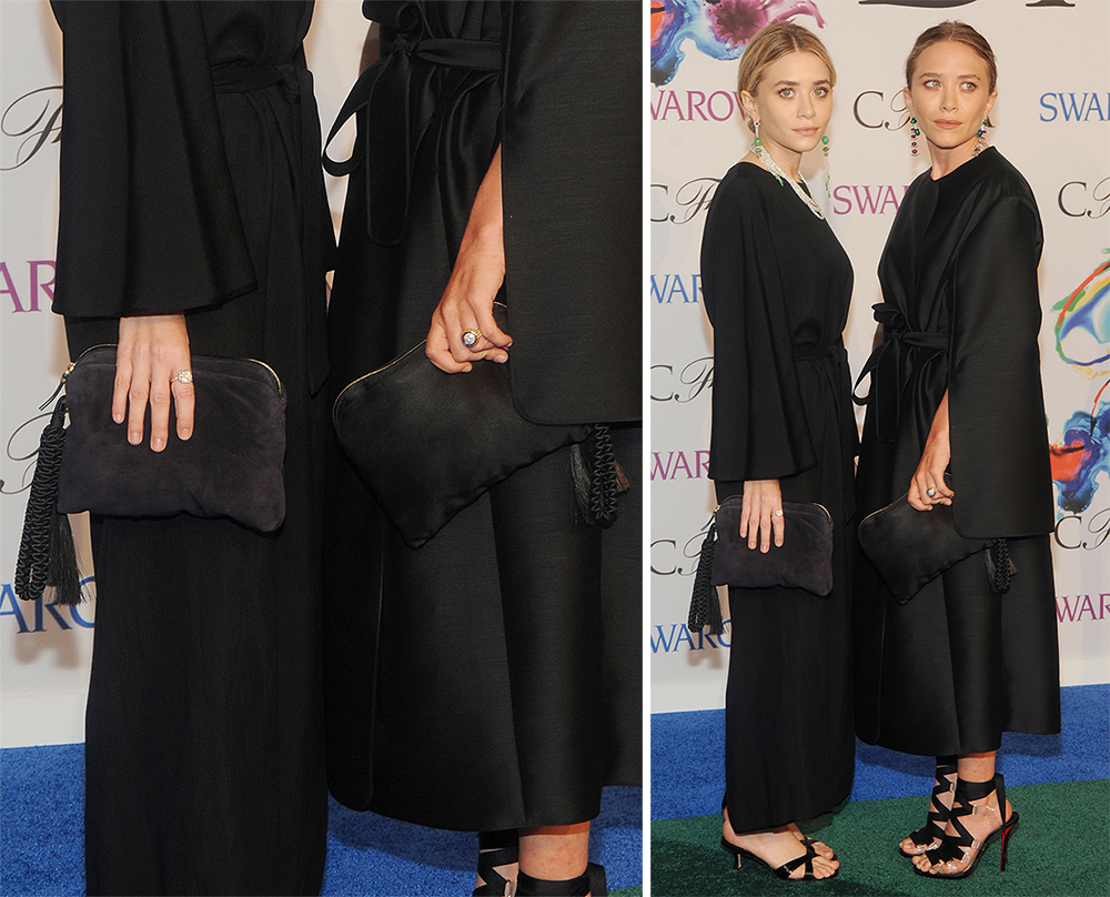 Ashley and Mary-Kate Olsen The Row Tassel Clutches
