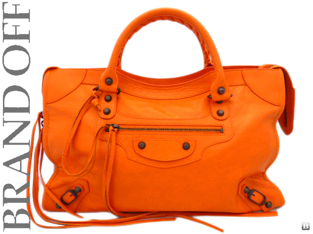 Balenciaga City Bag Orange