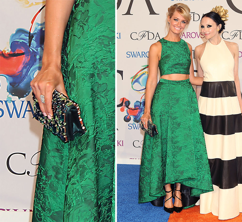 Beth Behrs Alice and Olivia Be Jeweled Clutch