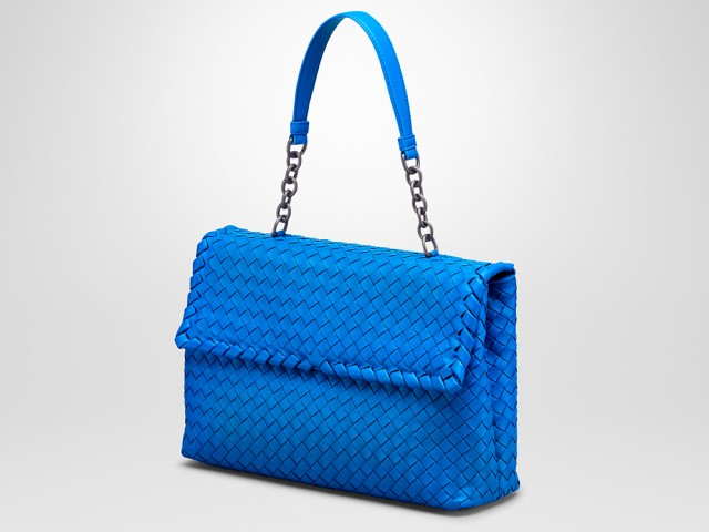 Bottega Veneta Olimpia Bag Blue