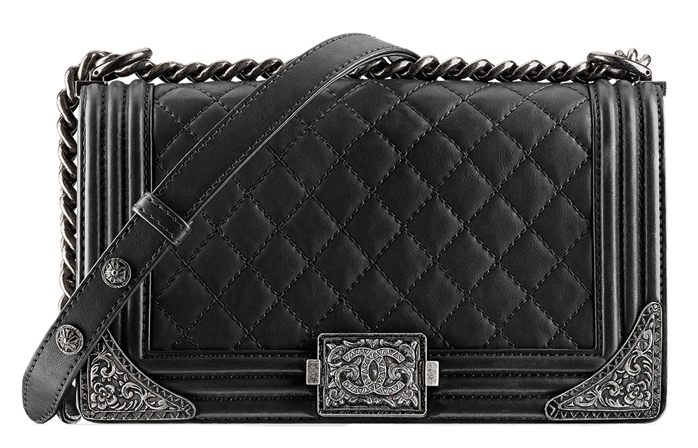 Chanel Boy Bag with Metal Corners