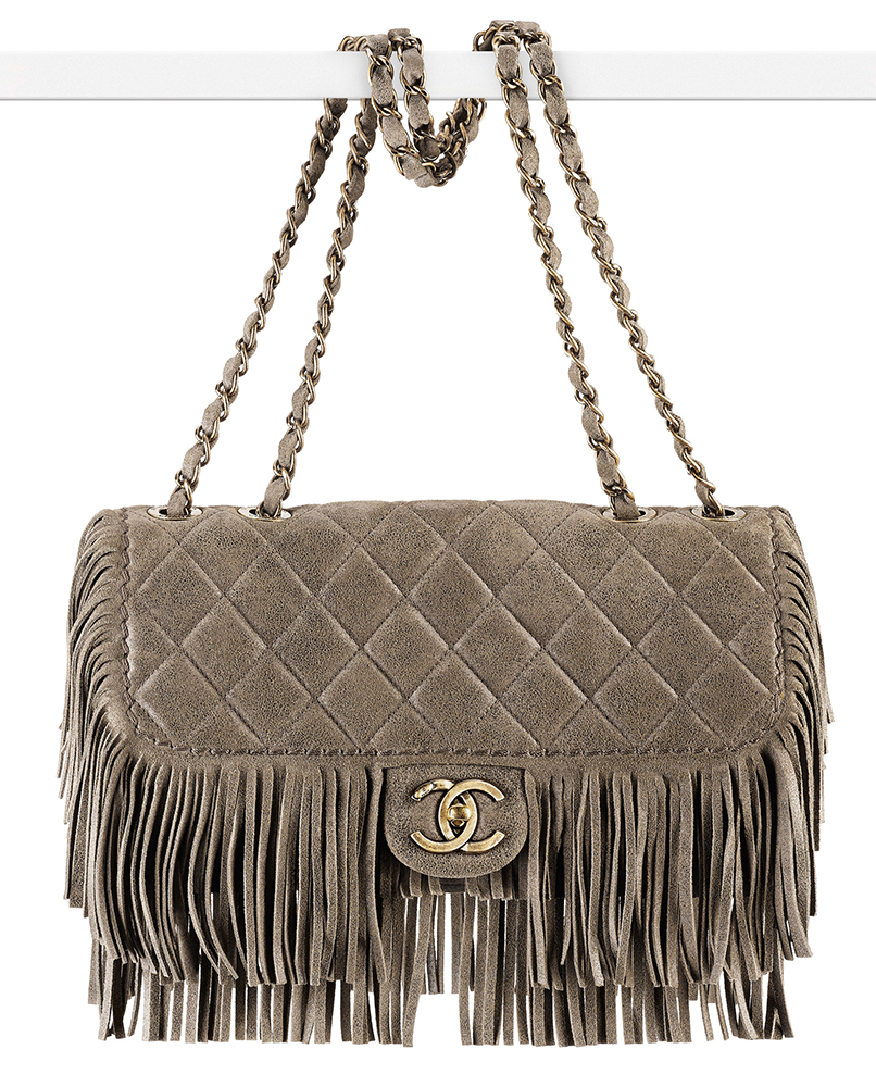 Chanel Calkskin Fringe Flap Bag