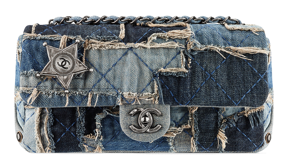 Chanel Denim Patchwork Flap Bag