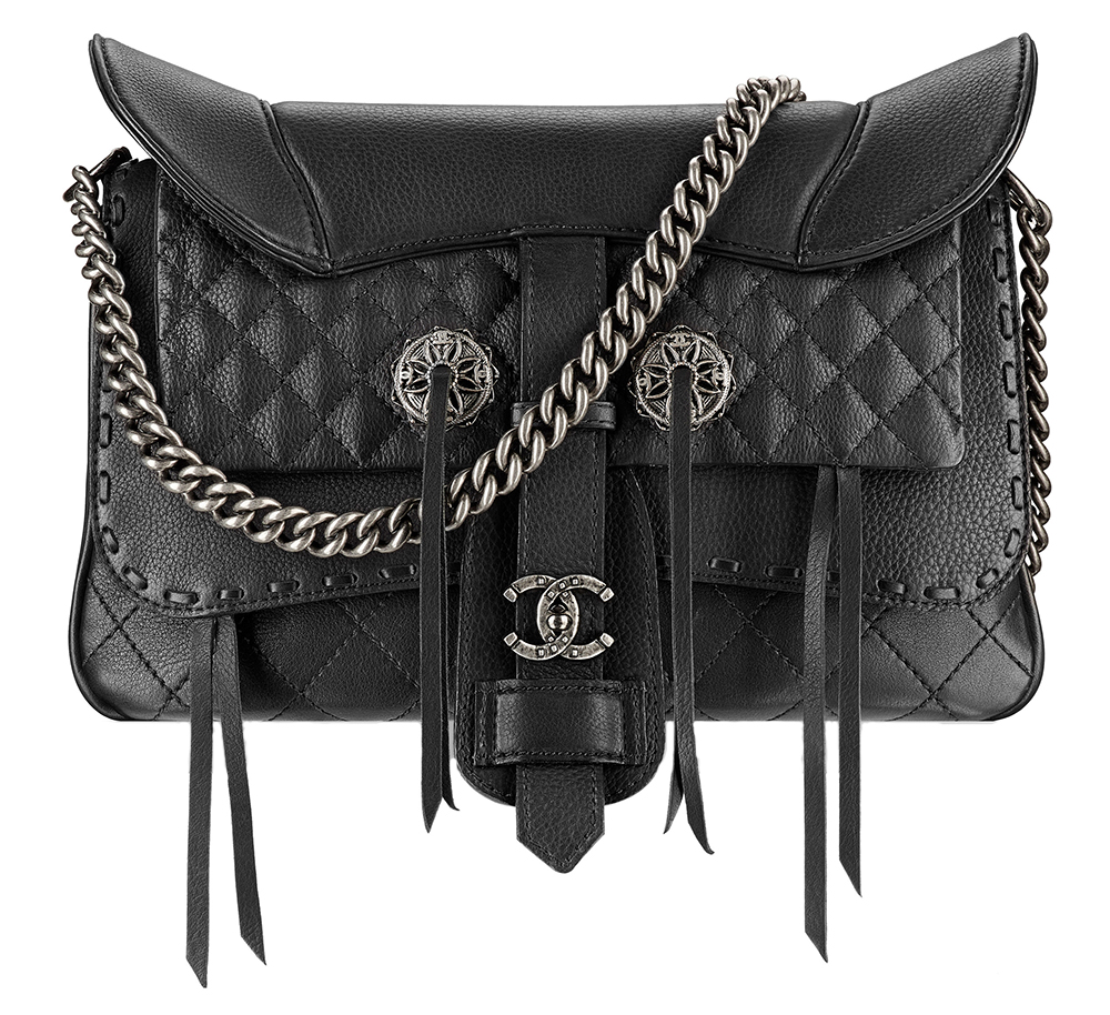 Chanel Fringe Saddle Flap Bag