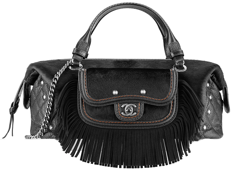 Chanel Fringe and Calf Hair Bowling Bag